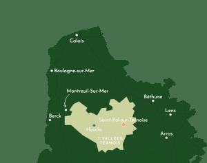 Carte localisation gite des 4 vents